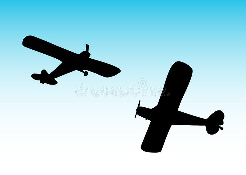 Download Two biplane stock vector. Image of aircraft, raise, landing - 2231180