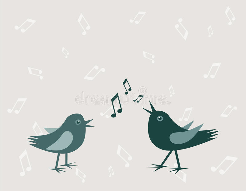 Download Two birds stock vector. Image of notes, cheerful, shade - 25194270