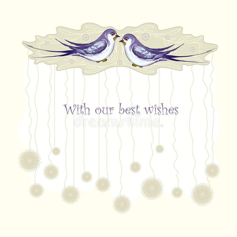 Two birds royalty free illustration