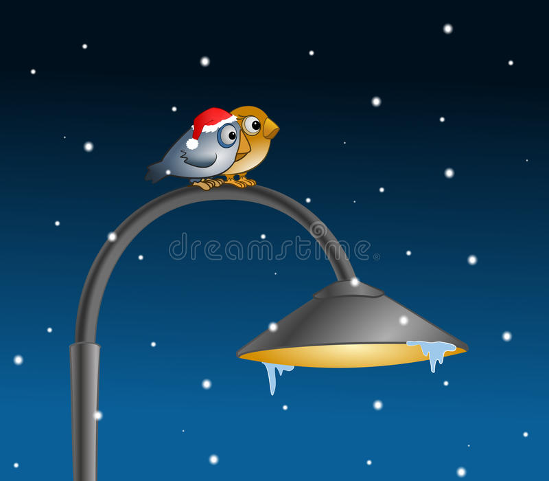 Two Birds In Winter Stock Image