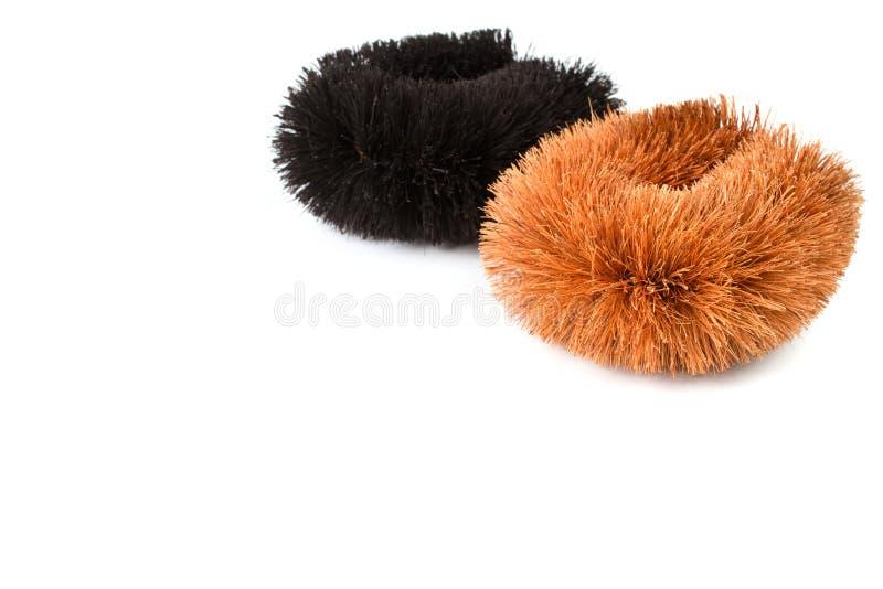 Natural Coconut Fiber Brush. stock images