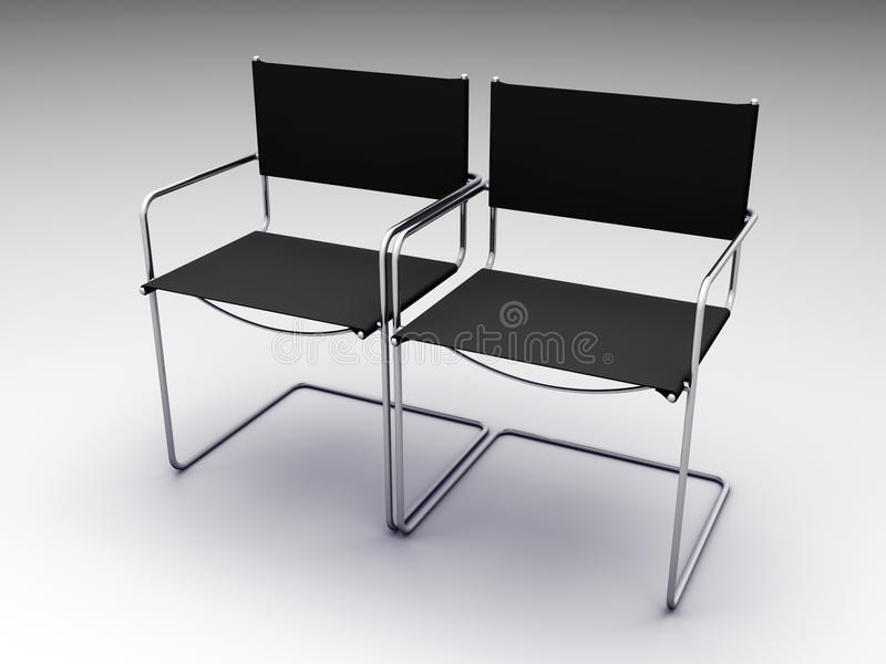 Download Two black chairs stock illustration. Image of affair - 12636392