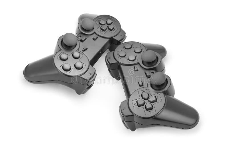 Two black gamepad royalty free stock image