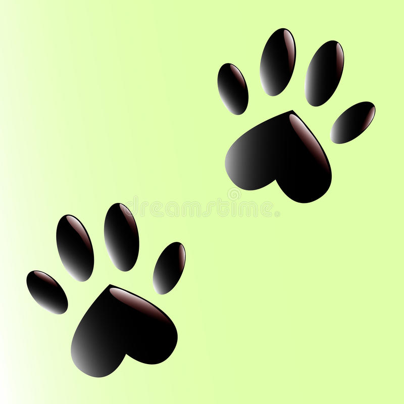 Free Two Black Paws Stock Image - 29006601
