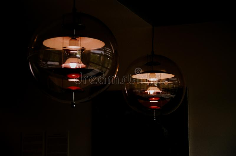 Two Black And Red Ceiling Light Free Public Domain Cc Image