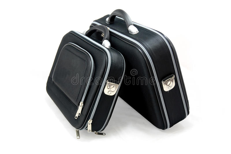 Download Two black suitcases stock photo. Image of abroad, briefcase - 27459120