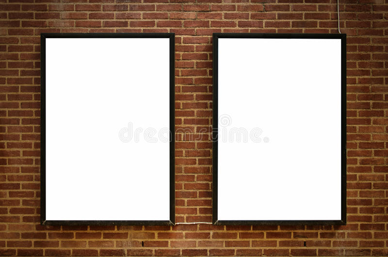 Download Two blank boards 02 stock image. Image of city, display - 28552099