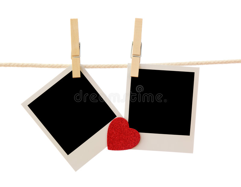 Two Blank Instant Photos Royalty Free Stock Photo