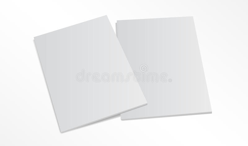 Two blank magazine covers on white background vector illustration