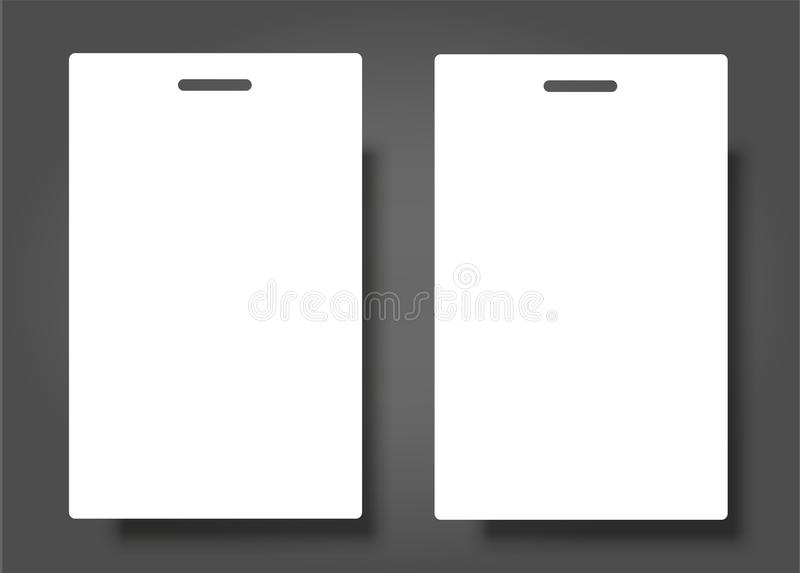 Blank id card template download by sizehandphone tablet desktop two blank name tags mockup vector illustration of identity card fbccfo Gallery