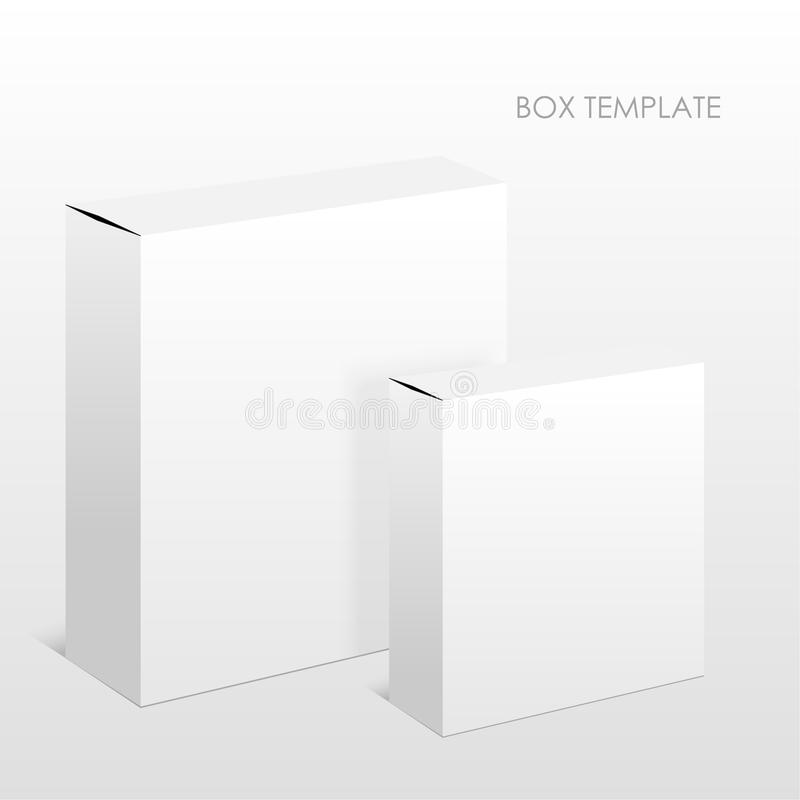Two blank packing boxes vector illustration
