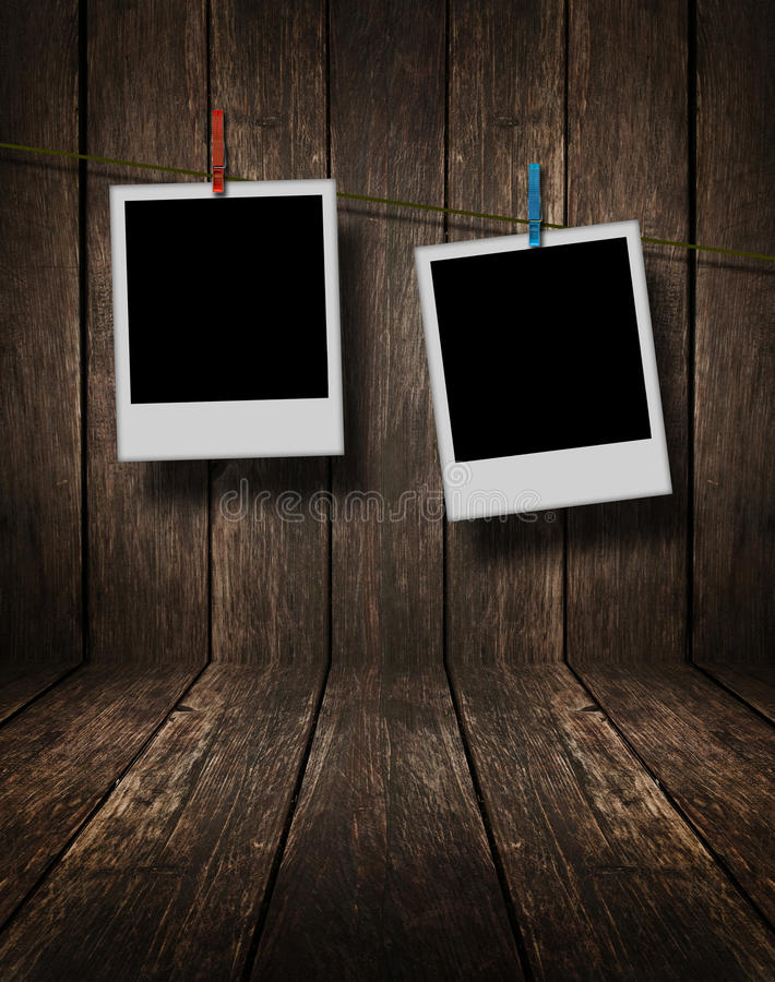 Two Blank Photos stock image