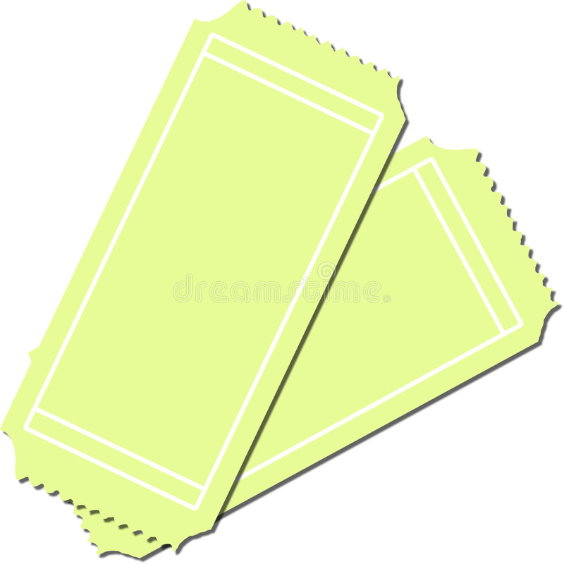 Download Two Blank Tickets Stock Image - Image: 5814201