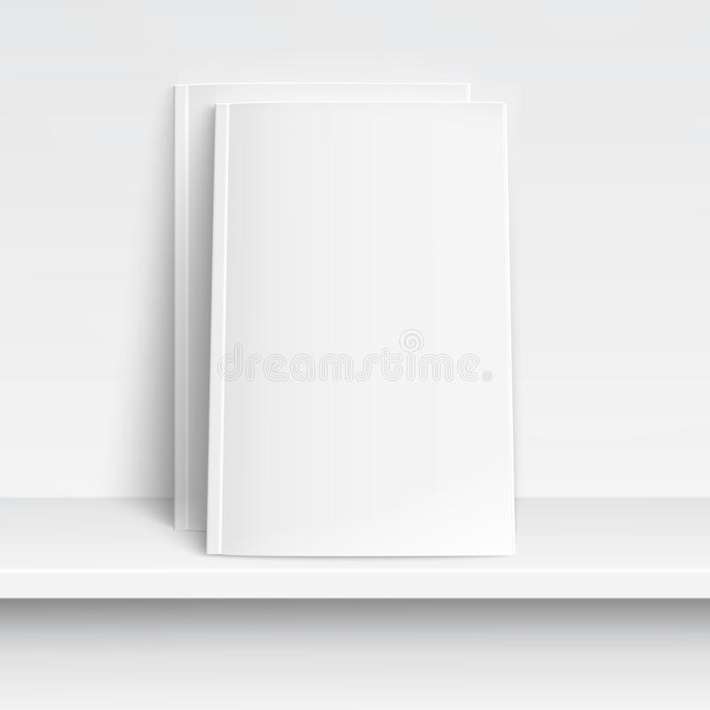 Free Two Blank White Magazines On White Shelf.. Stock Photography - 33439102