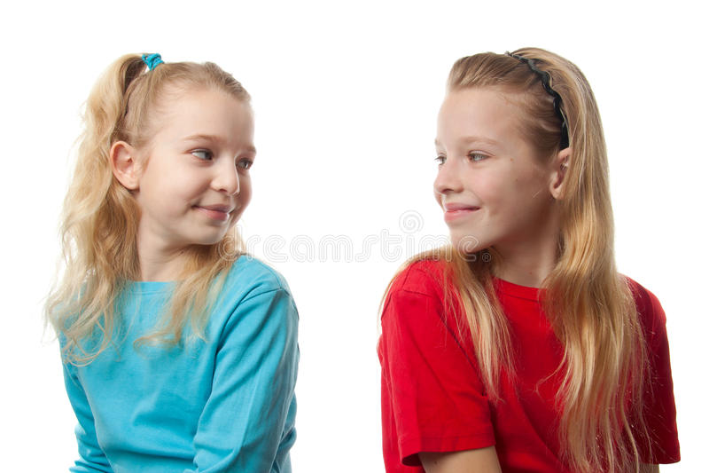 Download Two blonde girls stock image. Image of isolated, young - 16328967