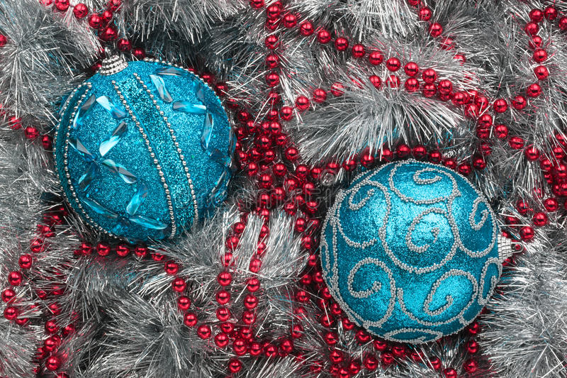 Download Two blue Christmas balls stock image. Image of holiday - 35602655