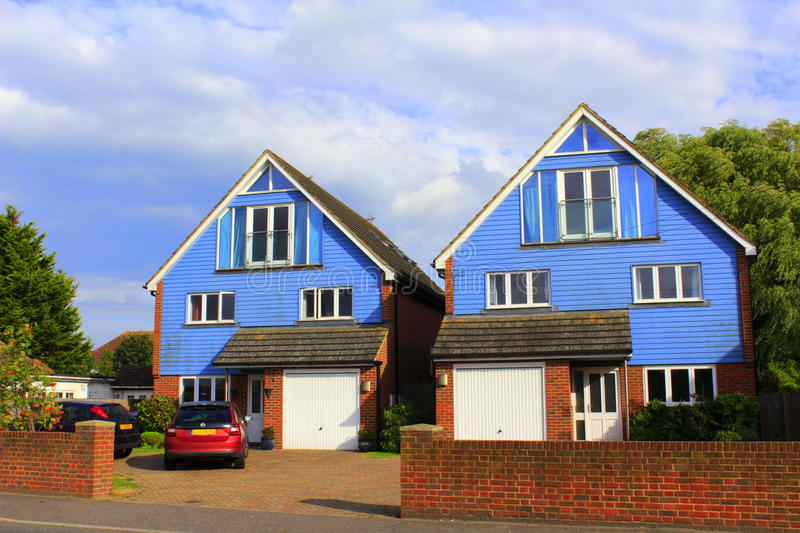 Two blue country houses Kent England royalty free stock photos