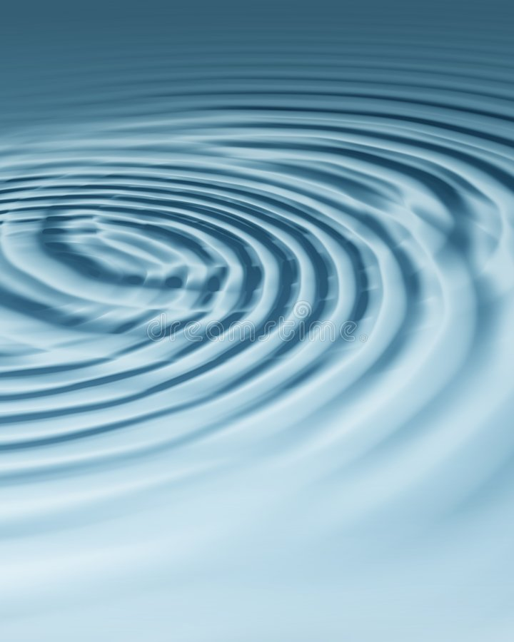 Free Two Bluish Silver Ripples Royalty Free Stock Image - 1676696