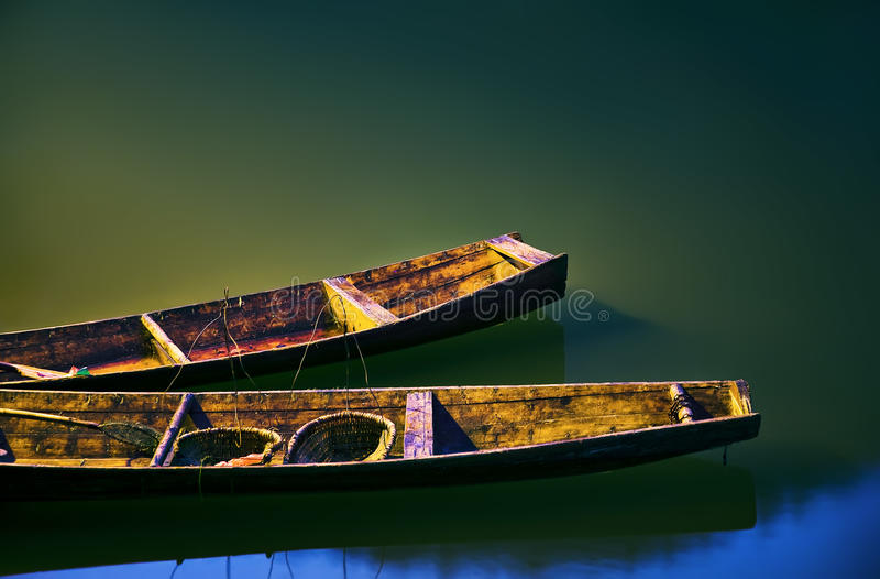 Two boats stock photography