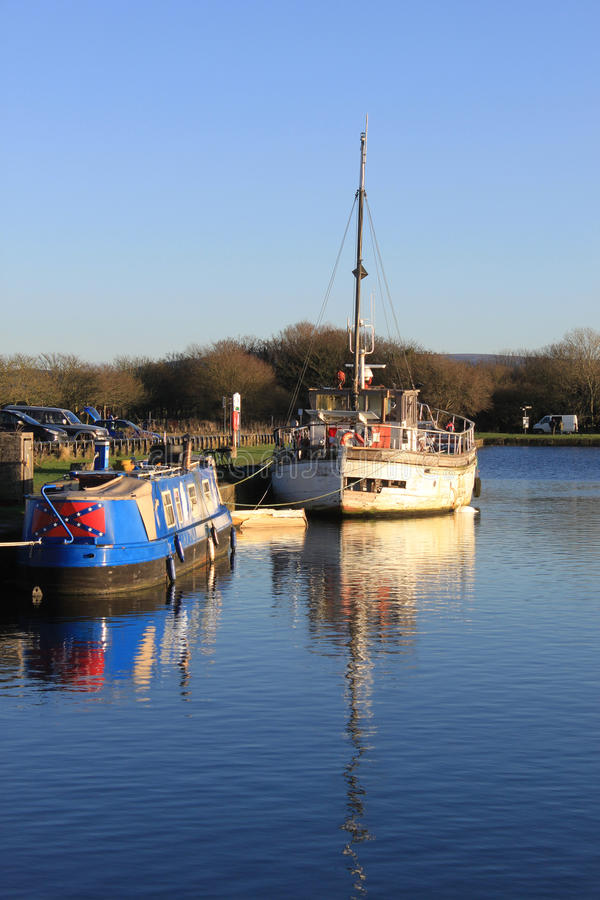 Download Two Boats Moored In The Canal Basin, Glasson Dock Editorial Stock Photo - Image: 28029878