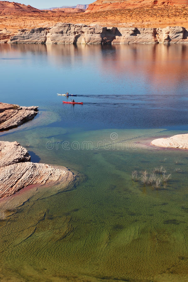 Download Two boats with oars stock photo. Image of sandstone, space - 17137282