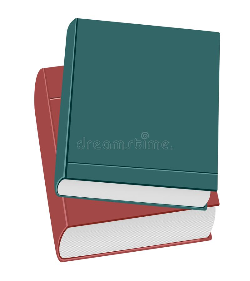 Two books royalty free illustration