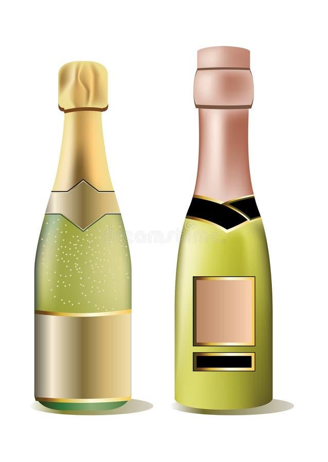 Two bottles of wine royalty free illustration