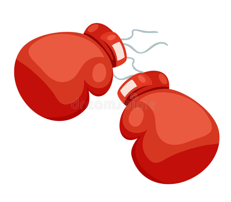 A two boxing glove. On a white stock illustration