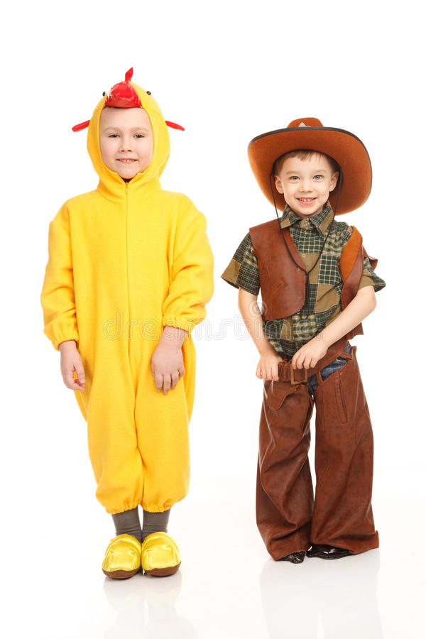 Download Two boys in costumes stock image. Image of treat, brown - 32431359