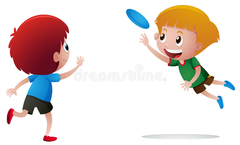 two boys playing frisbee stock vector illustration of illustration rh dreamstime com  frisbee golf clip art