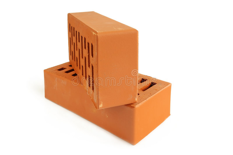 Two bricks royalty free stock images