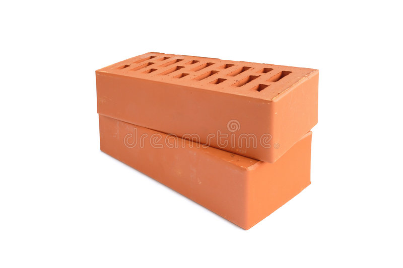 Two bricks stock images