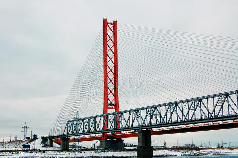 Two bridges royalty free stock images