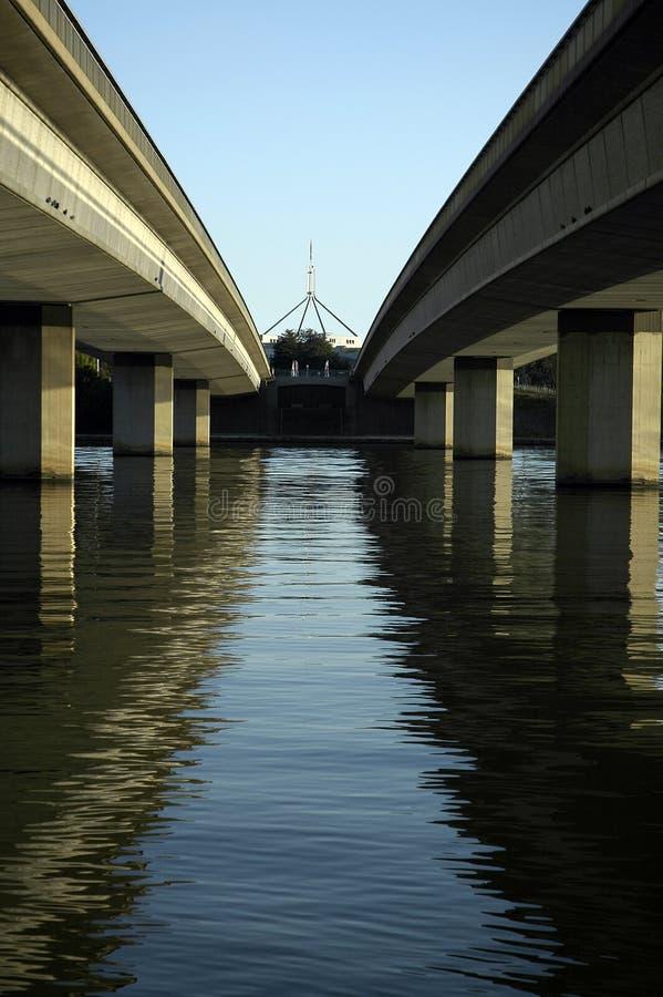 Two bridges stock photos