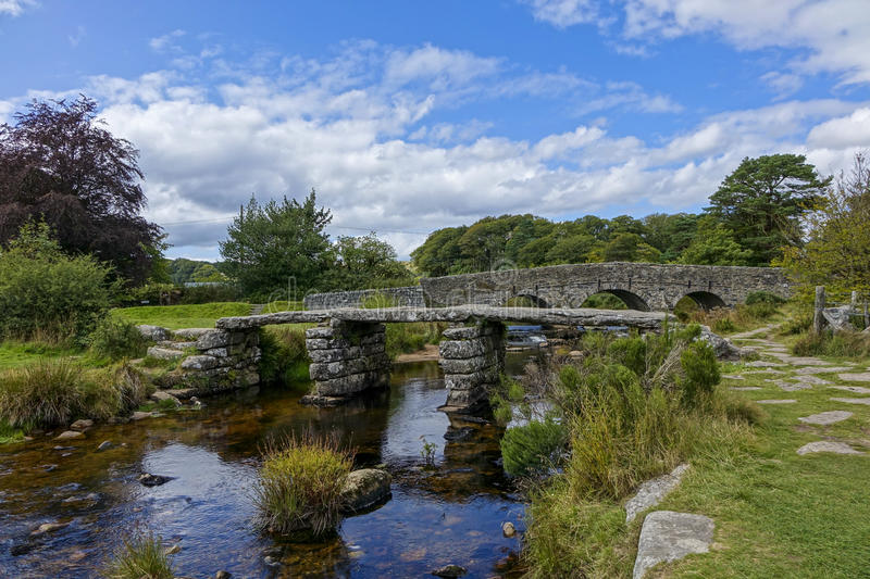 Two-bridges Dartmoor Devon England UK. Two -bridges Dartmoor,National-park Devon England UK sunny summers afternoon royalty free stock image