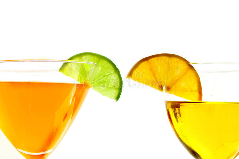 Download Two bright drinks stock photo. Image of orange, celebrate - 1721524