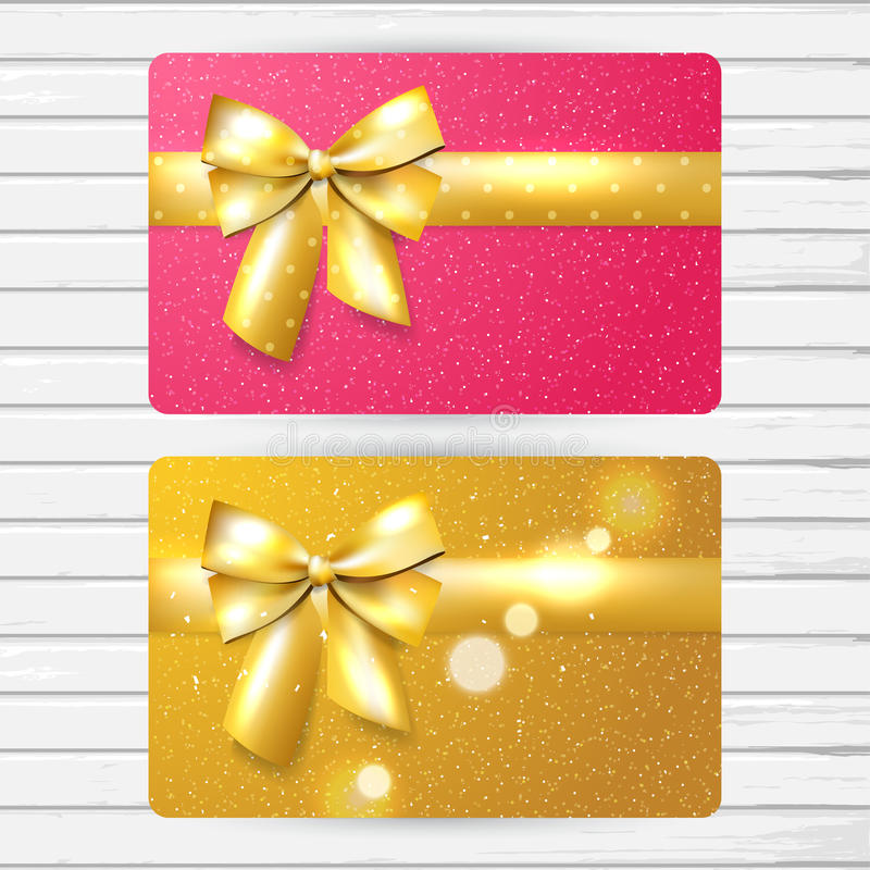 Two bright gift cards royalty free illustration