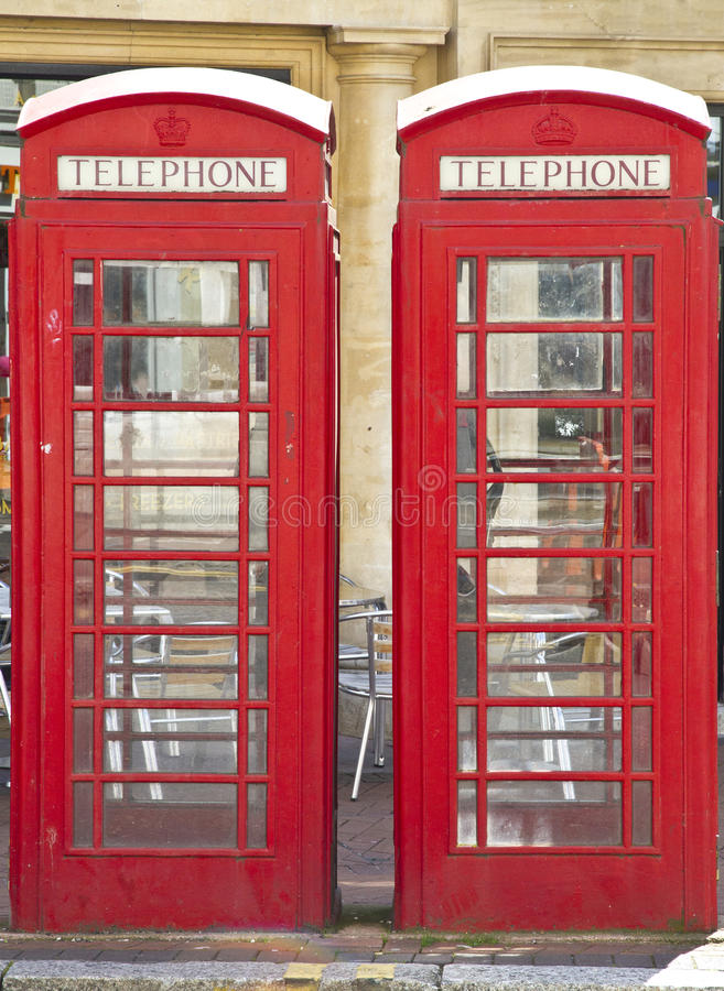 Download Two British Red Telephone Boxes Stock Image - Image: 25377905