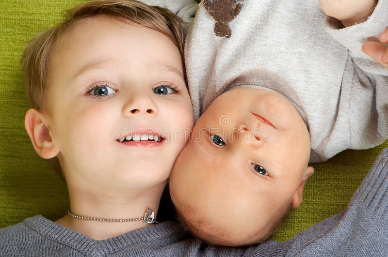 Two brothers. stock photos