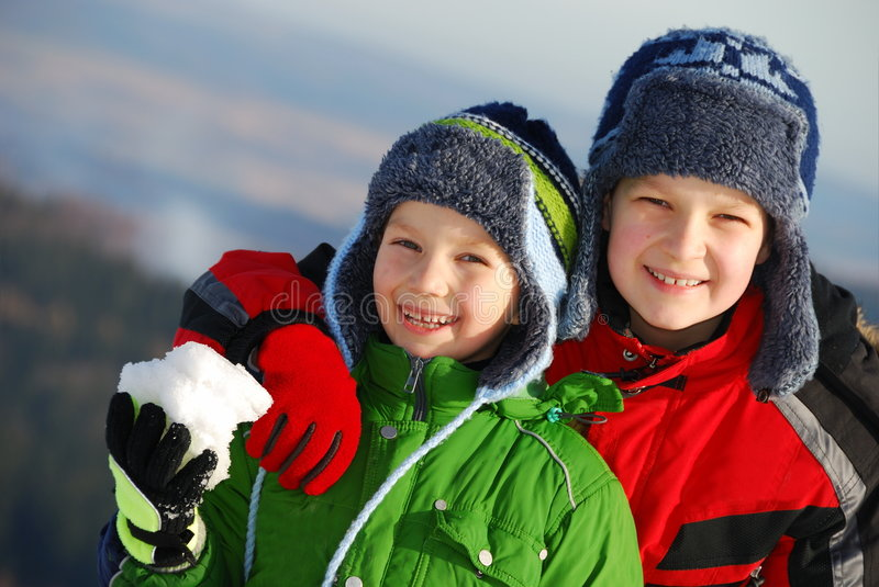 Two brothers royalty free stock photo