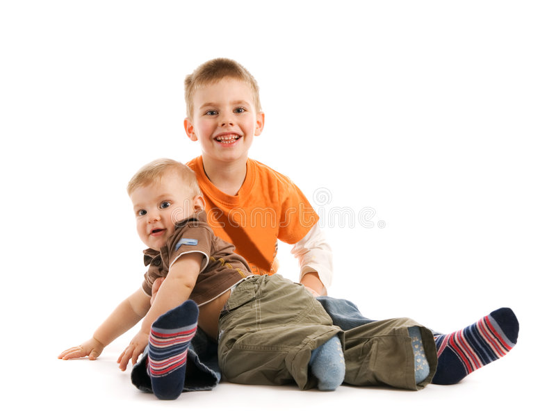 Two brothers royalty free stock image