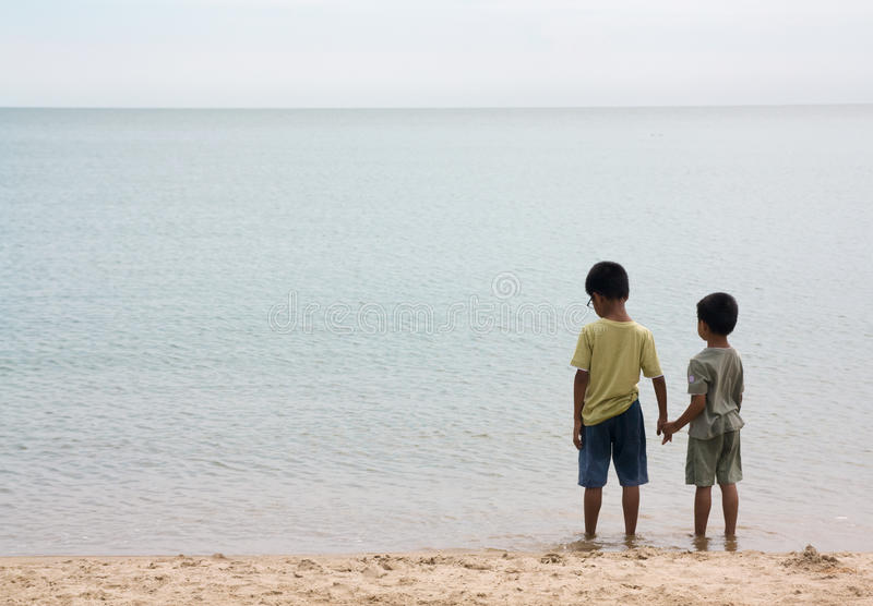 Download Two Brothers Holding Hands stock image. Image of family - 19860405