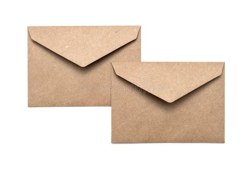 Two brown envelope royalty free stock photo
