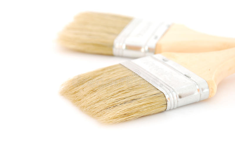 Download Two brushes stock photo. Image of equipment, paint, wood - 14351698