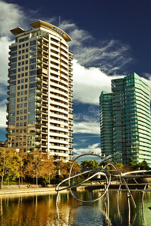 Download Two buildings on the shore stock image. Image of architecture - 21296339