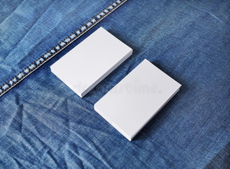 Two business cards stock photography
