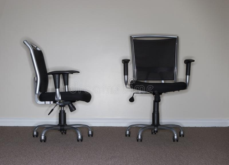 Two Business Chairs royalty free stock photography