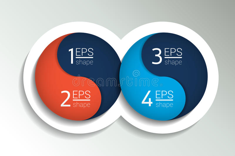 Two business elements banner, template. royalty free illustration