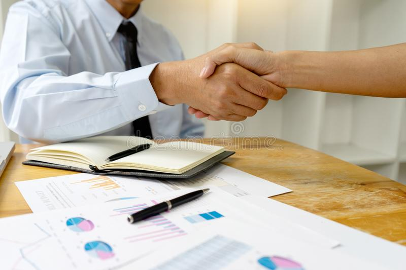 business people shake hand stock photo