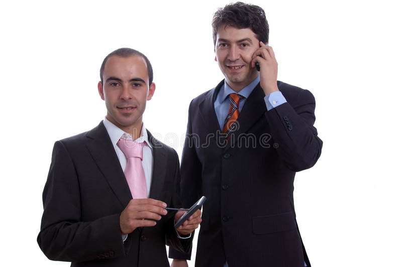 Download Two Business Men With Pda Cell Stock Photo - Image of male, colleague: 2914502